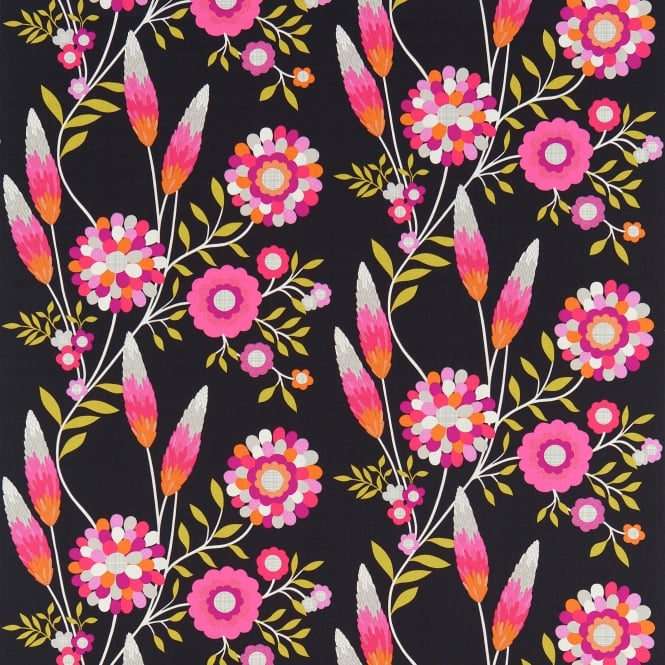 Harlequin HKID120219 Funky Flowers Black/Pink/Orange/Lime
