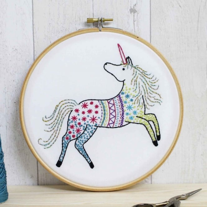 Hawthorn Handmade Unicorn Embroidery Kit