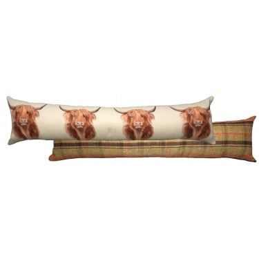 Hunter Highland Cow Draught Excluder