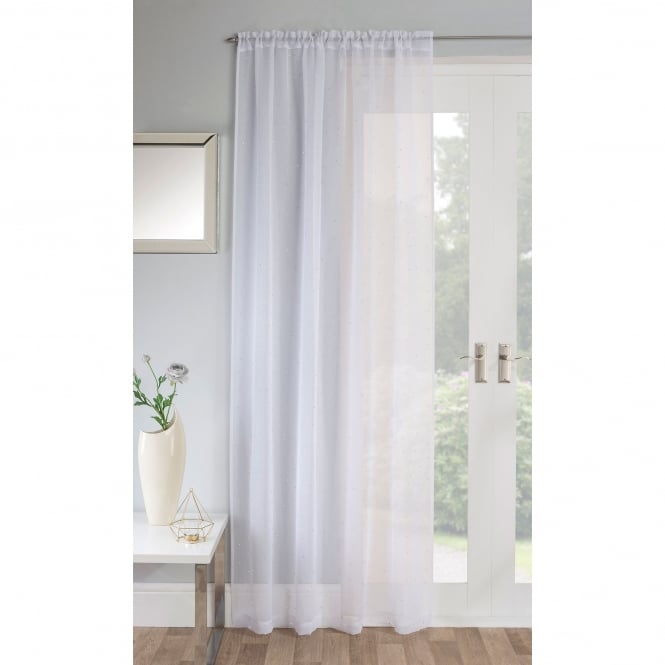 Jewel White Voile Panel