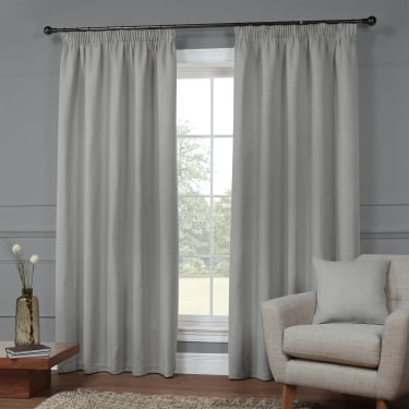 Kennington Plain Zinc Grey Ready Made Curtains
