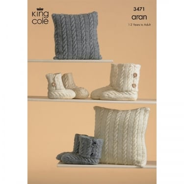 King Cole Cotton Aran Leaflet 3471
