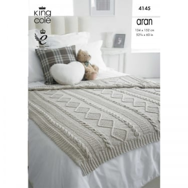 King Cole Cotton Aran Leaflet 4145
