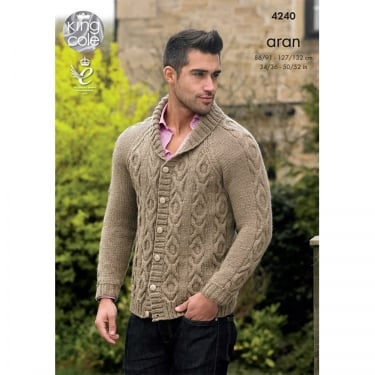 King Cole Cotton Aran Leaflet 4240