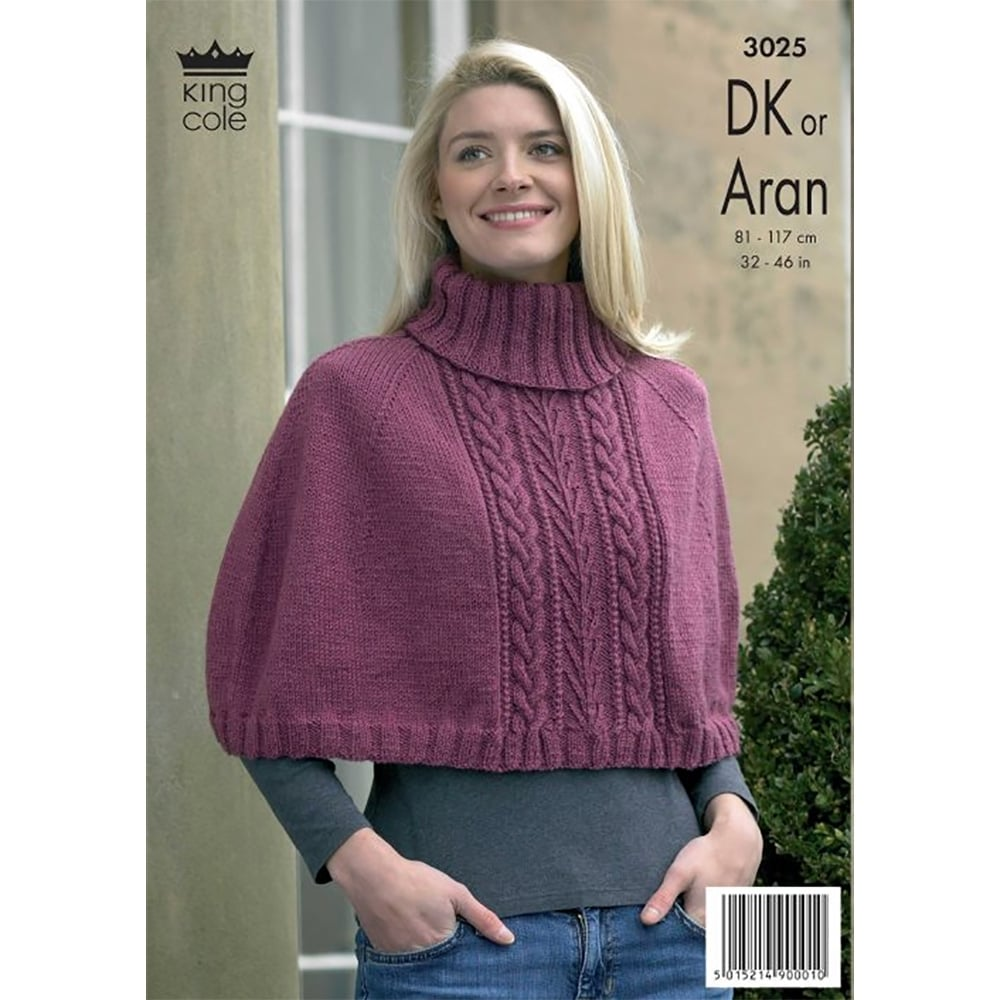 King Cole Fashion Aran Knitting Pattern 3025 | Closs & Hamblin