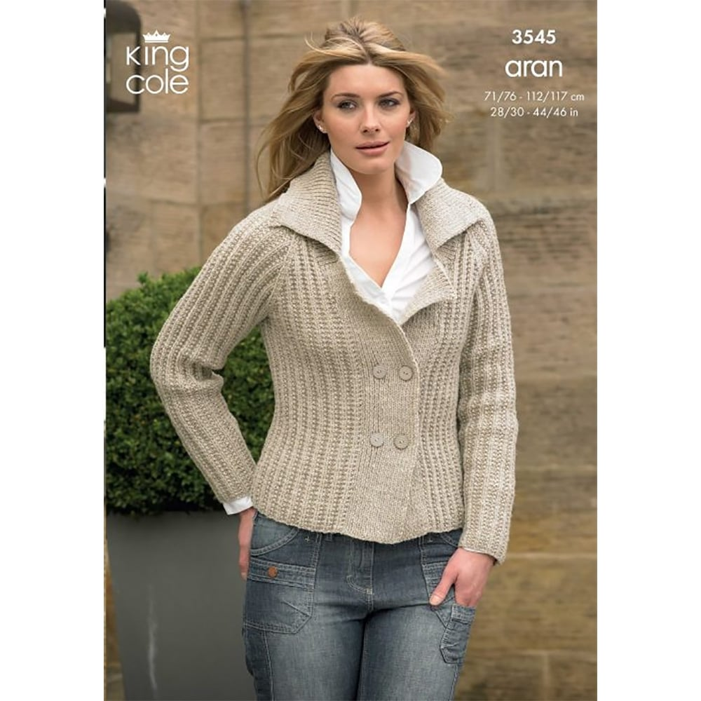King Cole Fashion Aran Knitting Pattern 3545 | Closs & Hamblin