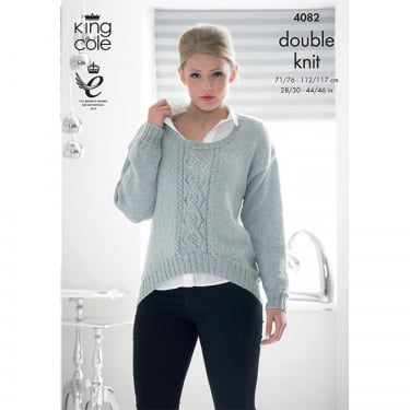 King Cole Glitz DK Knitting Pattern 4082