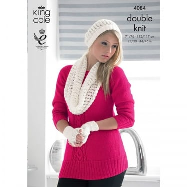 King Cole Glitz DK Knitting Pattern 4084