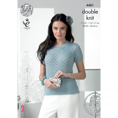 King Cole Glitz DK Knitting Pattern 4401