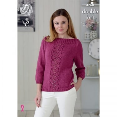 King Cole Glitz DK Knitting Pattern 4760