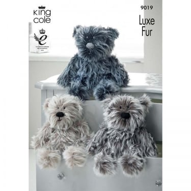 King Cole Luxe Fur Bear Leaflet 9019