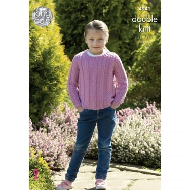 King Cole Luxury Merino DK Knitting Pattern 4941