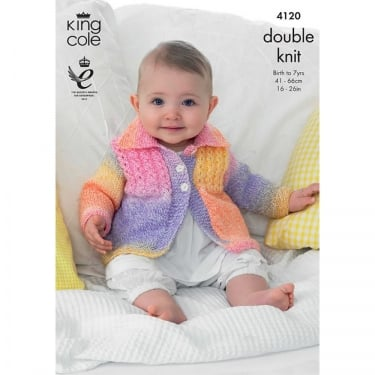 King Cole Melody DK Knitting Pattern 4120