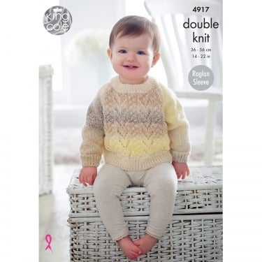 King Cole Melody DK Knitting Pattern 4917