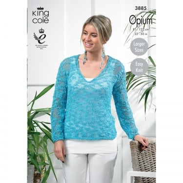 King Cole Opium Knitting Pattern 3885