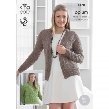 King Cole Opium Knitting Pattern 4178