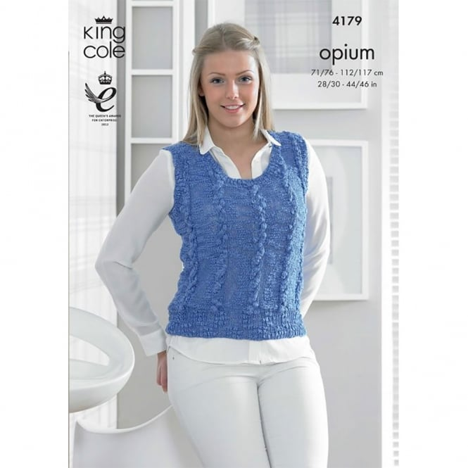 King Cole Opium Knitting Pattern 4179