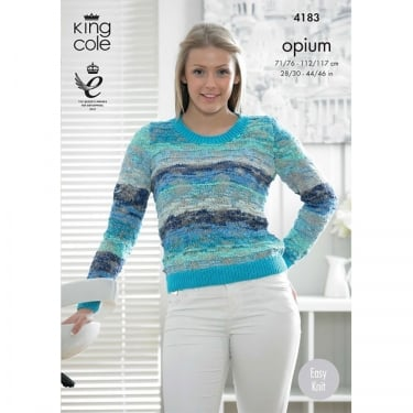 King Cole Opium Palette Knitting Pattern 4183