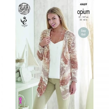 King Cole Opium Palette Knitting Pattern 4469