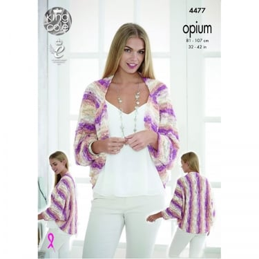 King Cole Opium Palette Knitting Pattern 4477