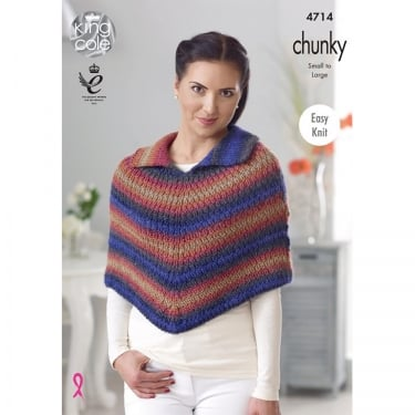 King Cole Riot Chunky Knitting Pattern 4714