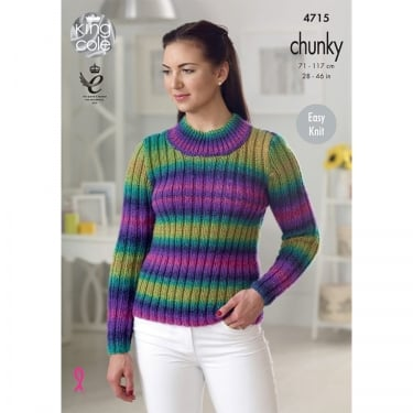 King Cole Riot Chunky Knitting Pattern 4715