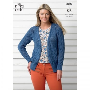 King Cole Smooth DK Knitting Pattern 3528