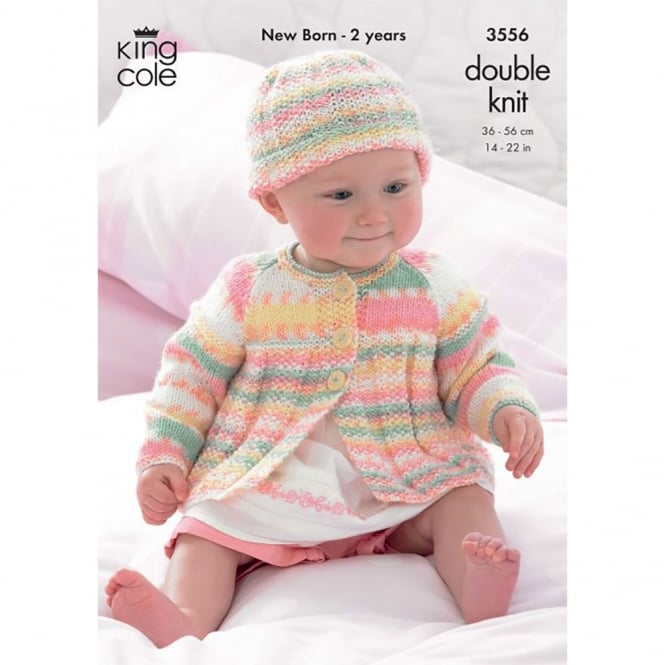 King Cole Smooth DK Knitting Pattern 3556