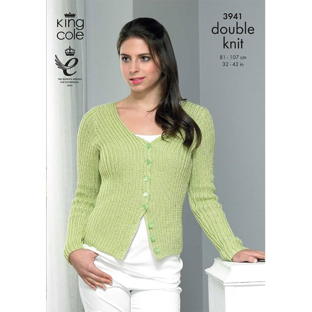 8aeb97f7de1010 King Cole Smooth DK Knitting Pattern 3941