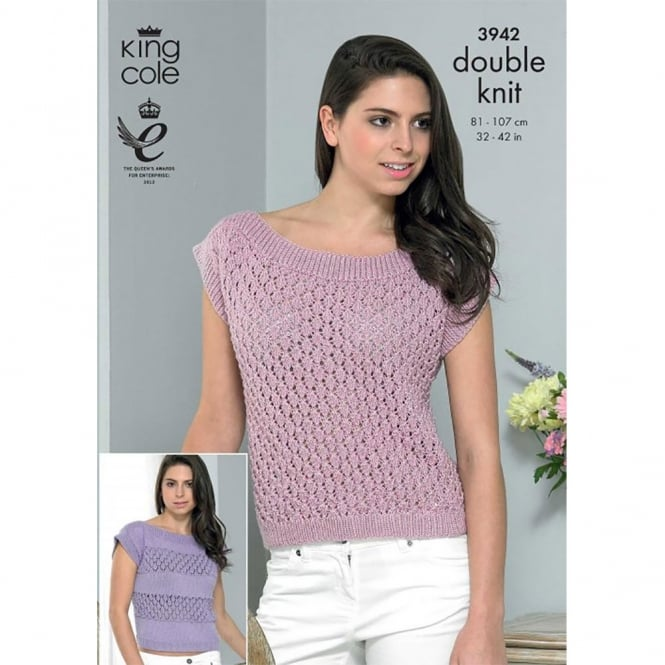 King Cole Smooth DK Knitting Pattern 3942