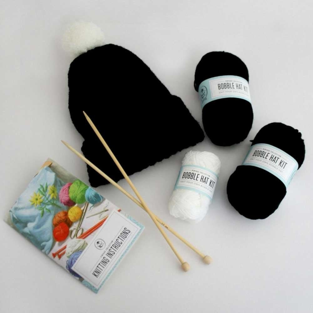 Ladybird Knit Your Own Bobble Woolly Hat Kit Complete Knitting Set Gift Box