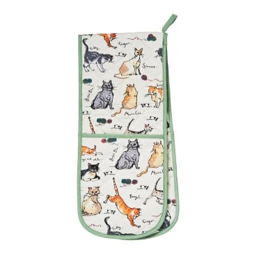 Madeleine Floyd Cats Double Oven Glove
