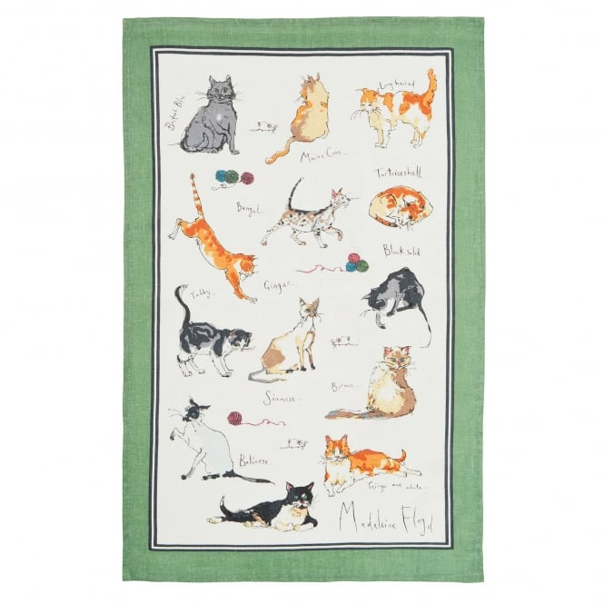 Closs & Hamblin Madeleine Floyd Cats Tea Towel