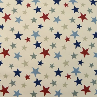 Marson Imports Funky Stars Red/Blue Curtain Fabric