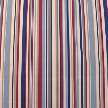 Marson Imports Funky Stripes Red/Blue Curtain Fabric