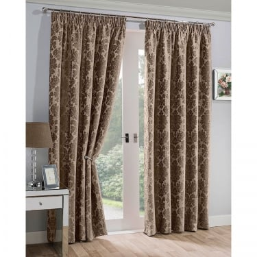 Mayfair Mocha Ready Made Curtains