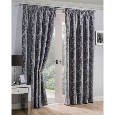 Mayfair Silver Ready Made Curtains