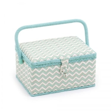 Medium Chevron Sewing Basket