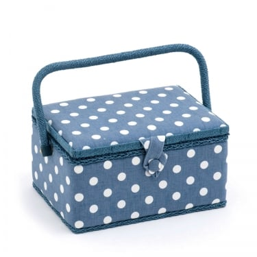 Medium Denim Spot Sewing Box