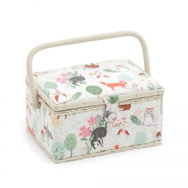 Medium Woodland Sewing Basket