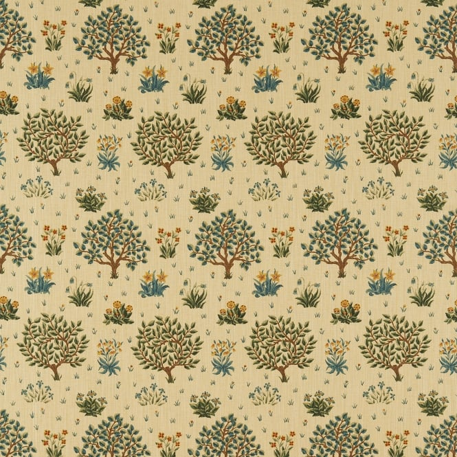 Morris & Co. DM6F220305 Morris Orchard Olive/Gold Fabric