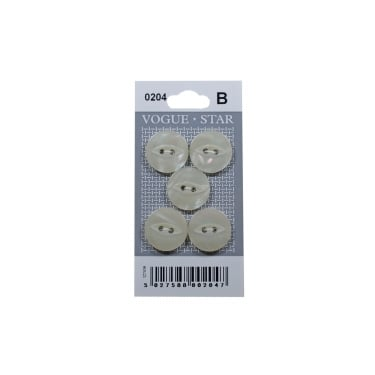 Mother of Pearl Effect Fish Eye Buttons 0204 (Pack/5)