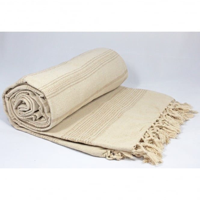 Natural Morrocan Double Throw - 230cm x 255cm