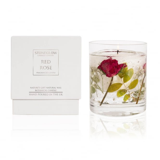 Natures Gift Red Rose Gel Candle