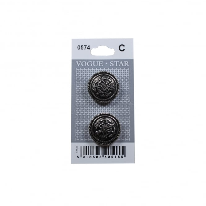 Nautical Anchor Buttons 0574 (Pack/2)