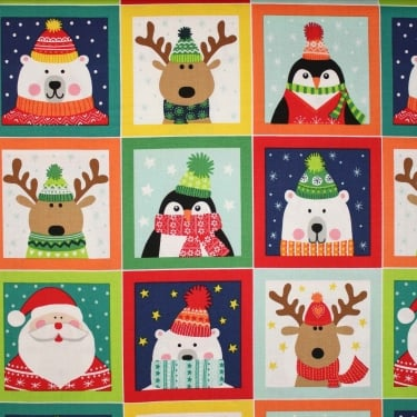 Novelty Christmas Labels Cotton