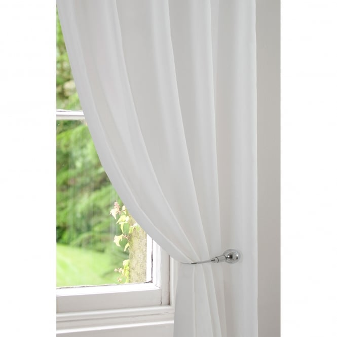 Ohio Ecru/Ivory Voile Curtain Panel