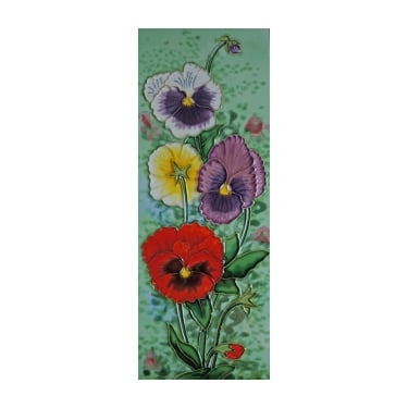Pansy Art Tile