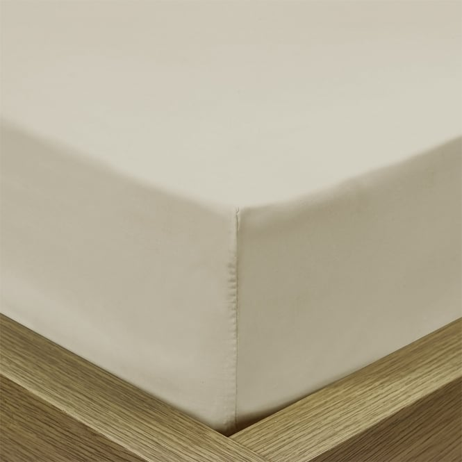 Percale Linen Fitted Sheet - Super King Size