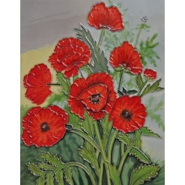 Poppies Art Tile